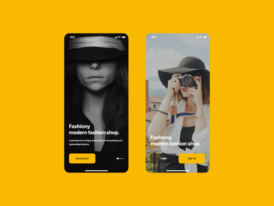 Fashiony buttons fashion app fashion ui uidesign shop ecommerce screen splash walkthrough ux mobile ui mobile