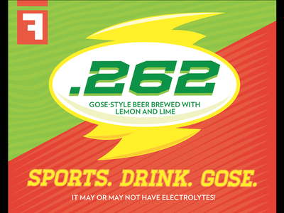 .262 beer label