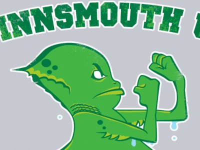 The Fighting Fishmen lovecraft cthulhu innsmouth geek vector illustration sports