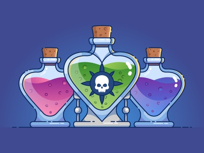 Love Poison potion bottle illustration love poison