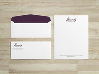 Flowering Financial Stationery
