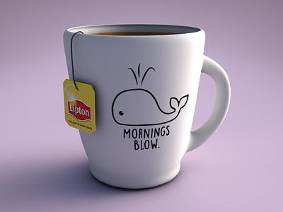 Tea Time 3d model cinema4d ceramic mug cup 3d tea