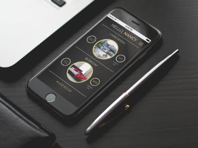 Nest App Redesign app design smart home gold black security ux ui app nest