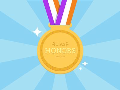 Honors Medal rit cias ribbon rit sparkle gold award honors medal