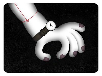 Alternative Tourniquet style frame dark creepy watch tourniquet arm grain grunge alternative