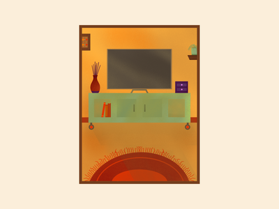 Living room living room home ipad pro procreate art procreate illustration design