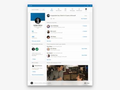 LinkedIn feed concept