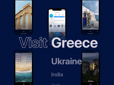 Visit _____ in 10 days mobile ui ux travel instagram stories