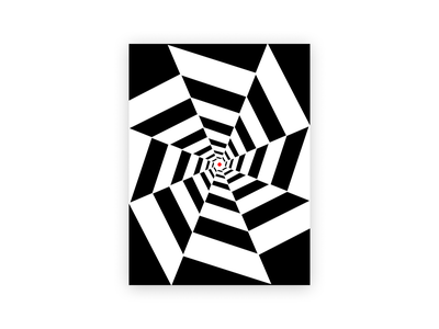 RWB swirl black and red black and white ipad pro procreate art procreate art illustration design