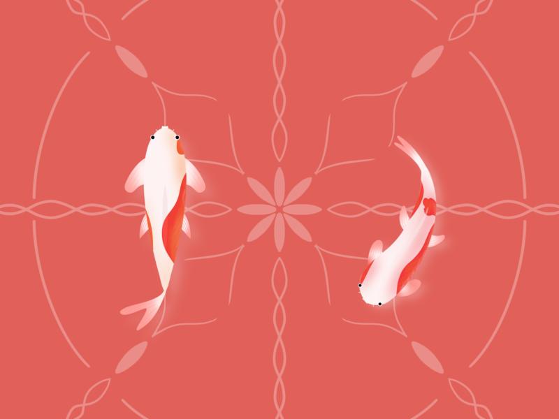 Koi   Fishes procreate art koi fish fishes procreate illustration design
