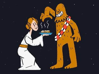 Leia Buns may4th chewbacca leia chewie star wars