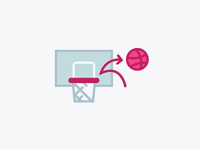 Rebound Icon basketball icon rebound dribbble