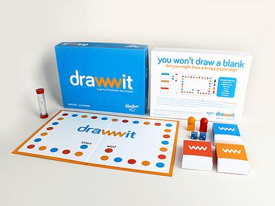 drawwit package design logo round bariol board game drawwit nashville packaging