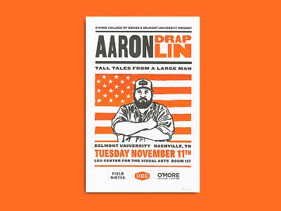 Aaron Draplin Letterpress Poster draplin letterpress printmaking print nashville typography ddc field notes addy
