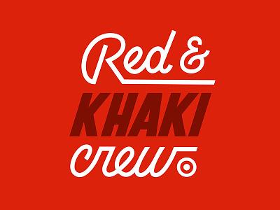 RED & KHAKI corporate minnesota nashville minneapolis custom type script bullseye crew khaki red typography target