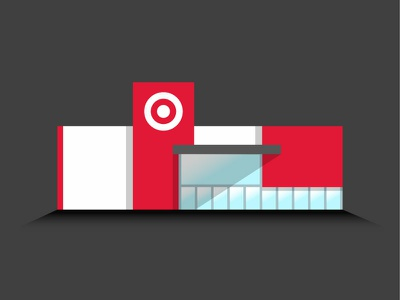 My Happy Place glass drawing retail minneapolis bullseye shadows vector illustration store target