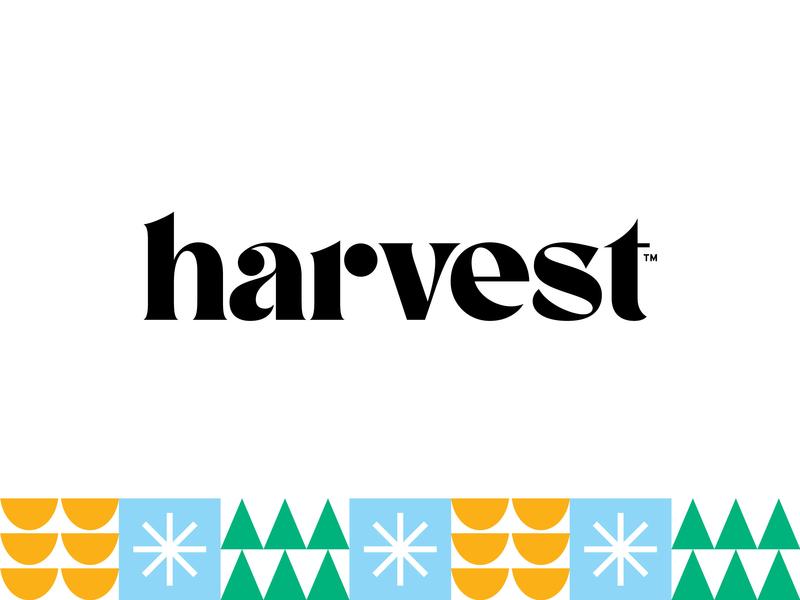 harvest pinetree fruit orange snowflake citrus mint tobacco wintergreen tree pattern geometric serif cbd harvest