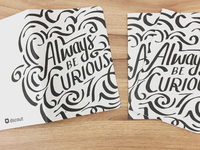 Notebook cover lettering