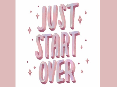 Just start over