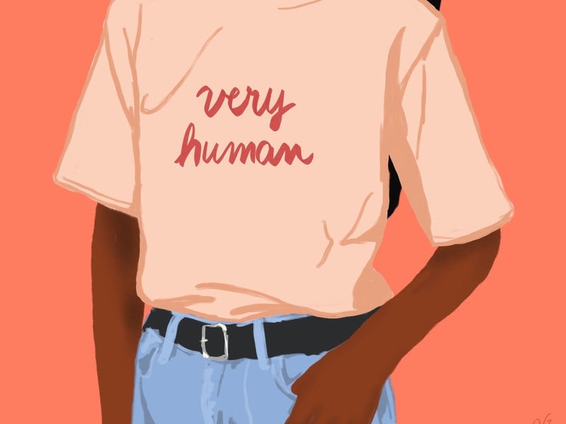 very human, pt1 hand lettered human tshirt person graphic design illustration figure