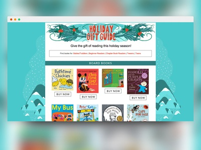 Holiday Gift Guide splash page