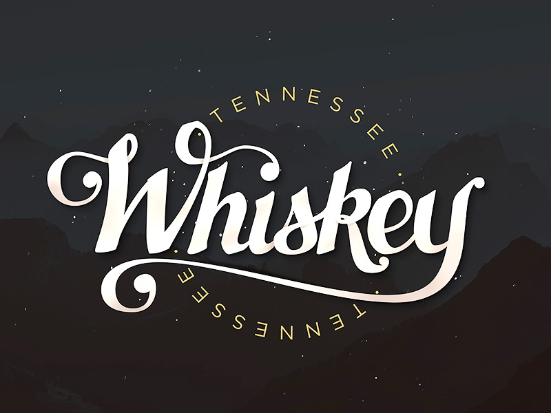 Tennessee Whiskey whiskey alcohol hand lettering typography script brush