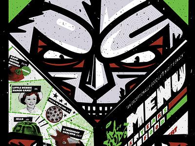 Doom - 15 Years of Mm.. Food graphic design design typography concert poster rap cartoon texture collage mmfood mfdoom poster poster design