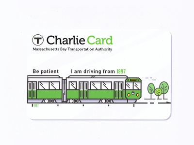Charlie Card - redesign train transportation greenline card mbta