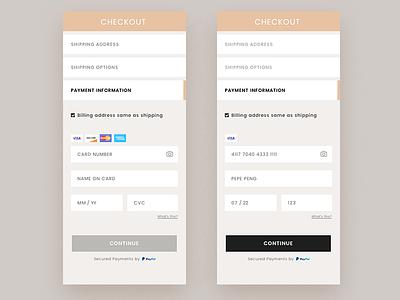 Checkout Payment-D2 creditcard 100dailyui uiux payment e-commerce checkout