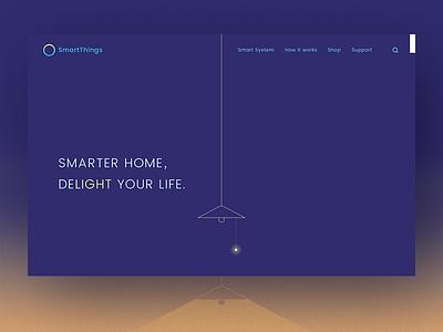 Smart Home Landing Page-D3 smart home homepage web uiux landing page 100dailyui