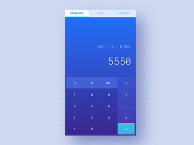 Standard Calculator-D4 standard tips mobil calculator currency uiux www.dailyui.co dailyui
