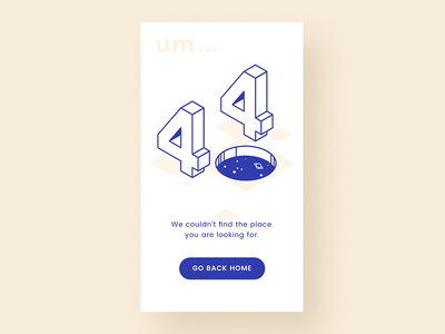404 page-D8 space isometric illustration page not found 404 uiux www.dailyui.co dailyui