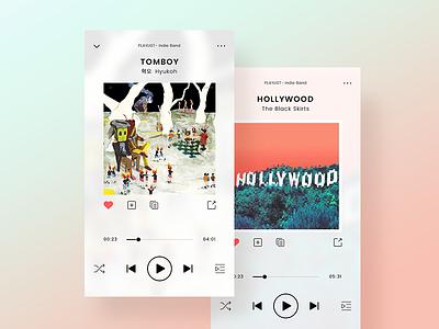 Music Player-D9 lightweight album app music player uiux www.dailyui.co dailyui