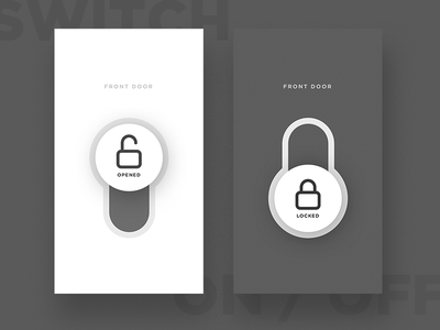 Switch On/Off-D15 key smarthome lock smart home on off switch locker icon app uiux dailyui