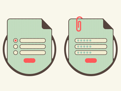 service icon icon flat attach file list radiobutton button choice enter document service step