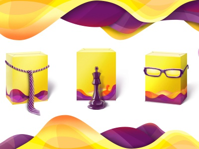 Asoft icons icon icons yellow manager chief boss director leader accountant waves chess glasses tie