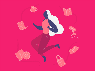 Be Your Change woman world change podcast art character design character vector illustration