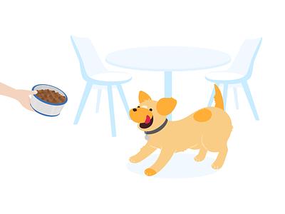 Pup dog illustration dog startup branding startup flat character design character vector illustration