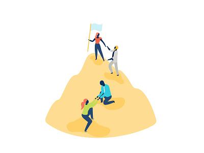 Leadership adobeillustator adobe ui company inclusivity diversity creative sydney hero illustration character digital business office character design flat branding illustration vector leadership