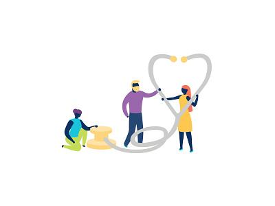 Healthcare healthcare adobe vector ui sydney office inclusivity illustration hero illustration flat diversity digital creative company character design character business branding adobeillustator
