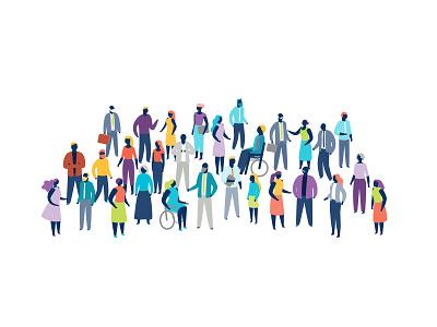 People characters people vector ui sydney office inclusivity illustration hero illustration flat diversity digital creative company character design character business branding adobeillustator adobe