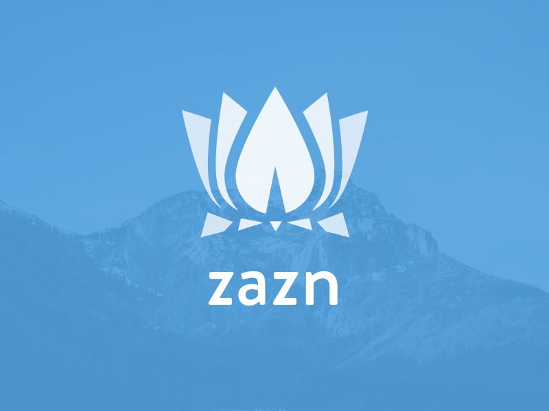 Zazn Meditation App meditation ios logo lotus lotus flower zazn zazen zen blue