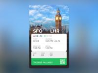 Boarding Pass card style card card design mobile design mobile interface ui boarding pass