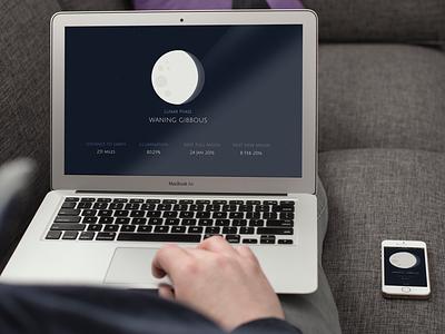 Lunar Phases dev javascript sass css html responsive mobile app design web design one page moon