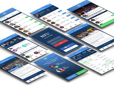 NFL Fantasy App mobile design mobile ux design ui design uiux mockup iphone ios fantasy football app nfl