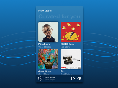 Daily UI :: 091 Curated For You spotify playlist mobile design ux ui daily ui
