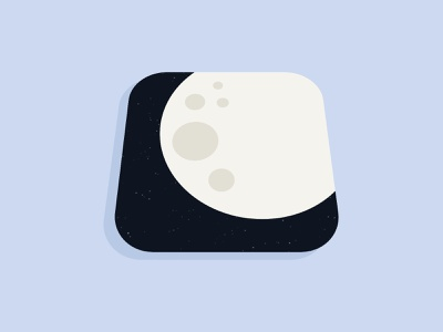 Moon App Logo app design iphone flat mobile ux app ios ui