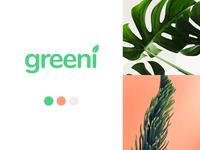 Greeni Moodboard branding brand identity moodboard green plant brand design brand ui