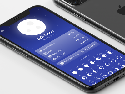 Moon Child App moon phases moon mobile app design ux app ios ui