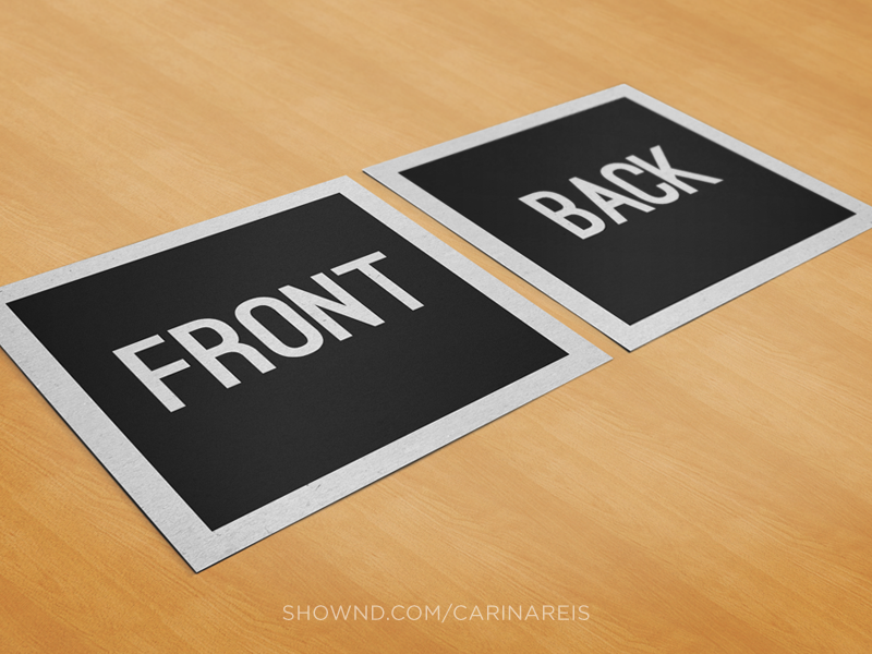 Free Square Business Card Mockup mockup business card card stationary free download